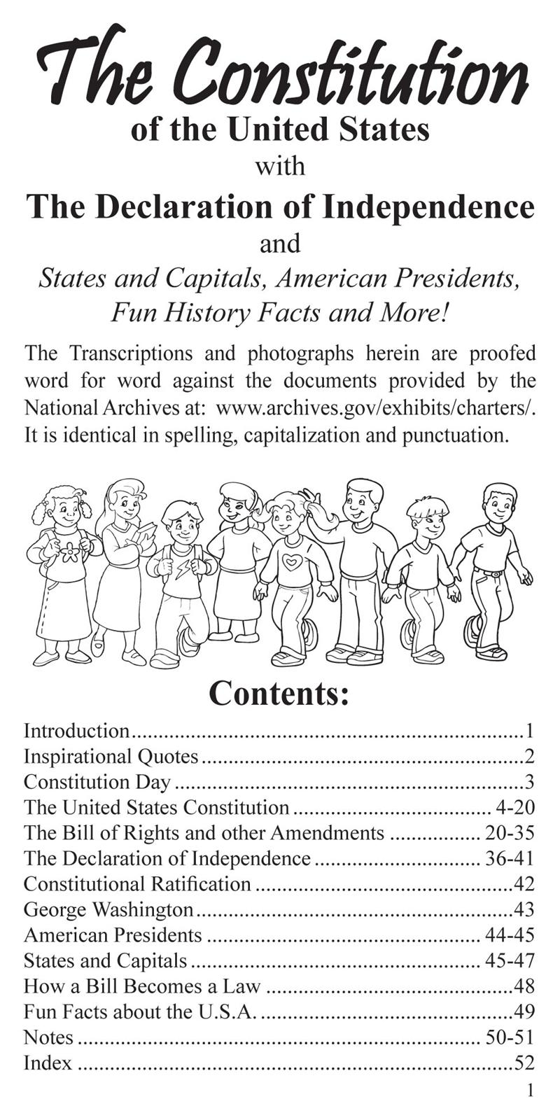 Wholesale Coloring Books | The U.S. Constitution Pocket Guide