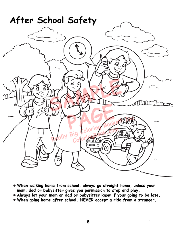 12 Pack Child Safety Coloring Book 85x11