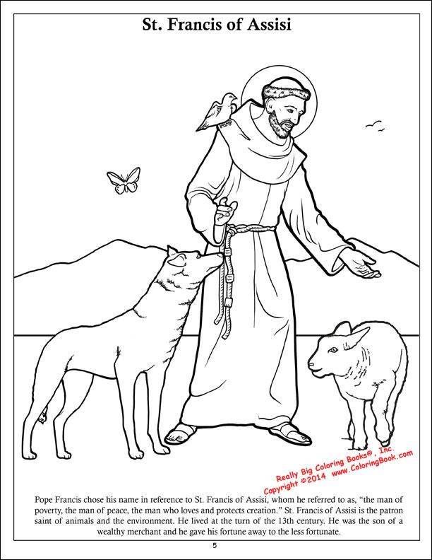 saint francis of assisi coloring page - wholesale coloring books the holy see pope francis