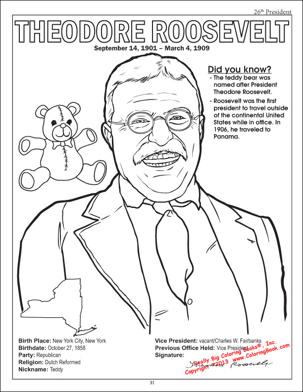 woodrow wilson coloring pages - photo#27