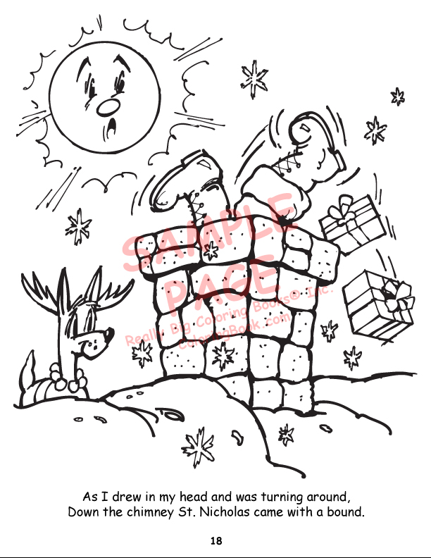 Wholesale Coloring Books Twas the Night before Christmas