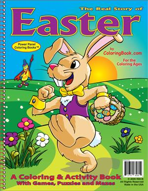 the real story of easter coloring book - Easter Coloring Books