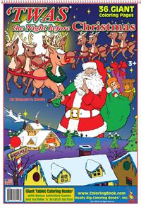 'Twas the Night Before Christmas Giant Tablet Coloring Book