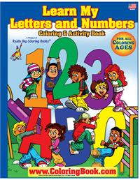 Learn My Letters and Numbers Really Big Coloring Book