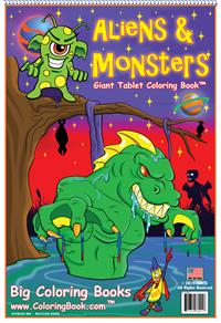 Aliens & Monsters Coloring Book