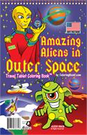 Amazing Aliens in Outer Space Coloring Books