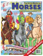 Horses Coloring Book with