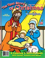 The Real Story of Christmas Power Panel Coloring Book