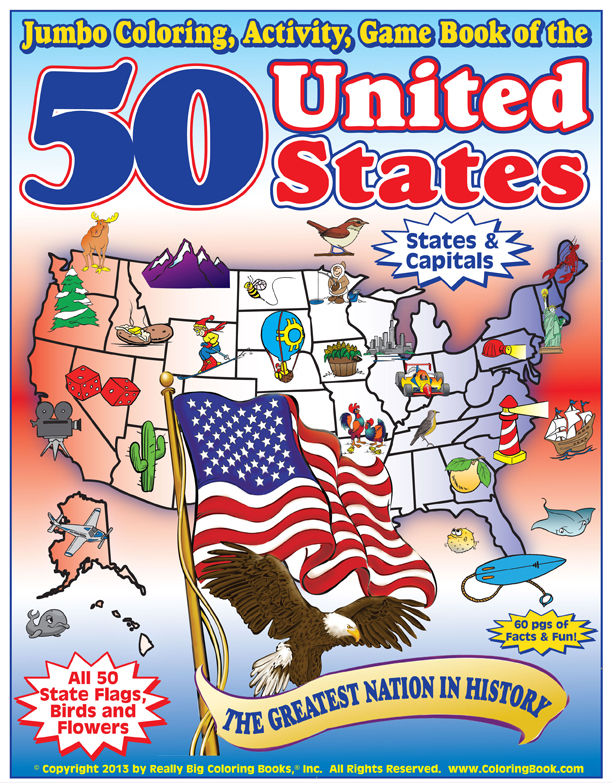50 United States - Coloring, Activity & Game Book - Wholesale Coloring Books