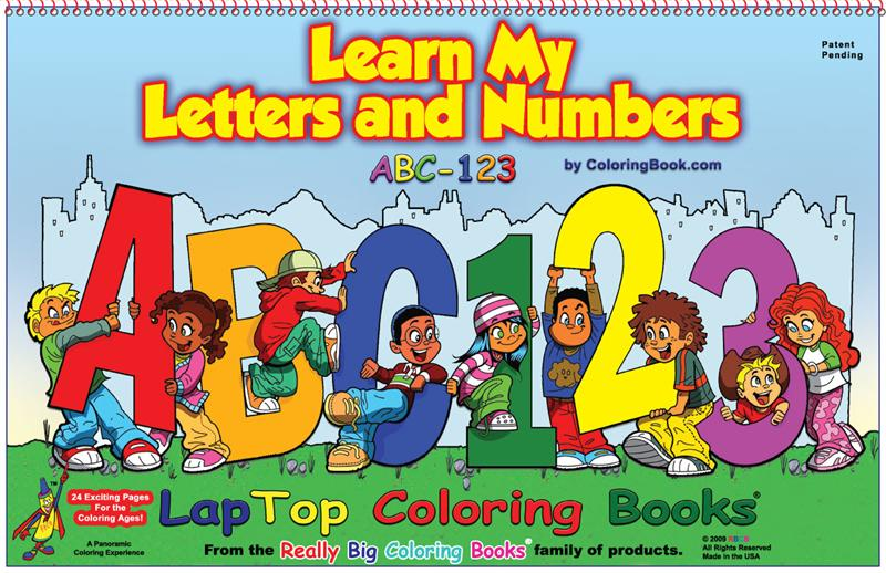 Learn My Letters And Numbers Coloring Book