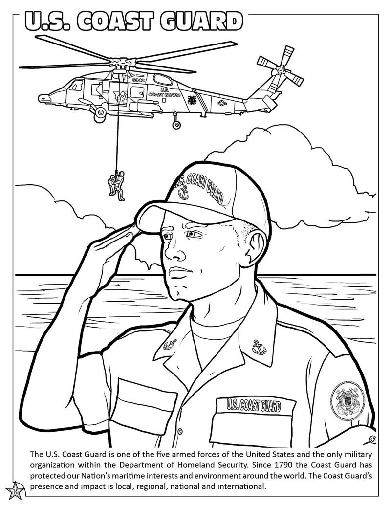 Coloring book page of the united states - U S Armed Forces Coloring Activity Book U S Coast Guard