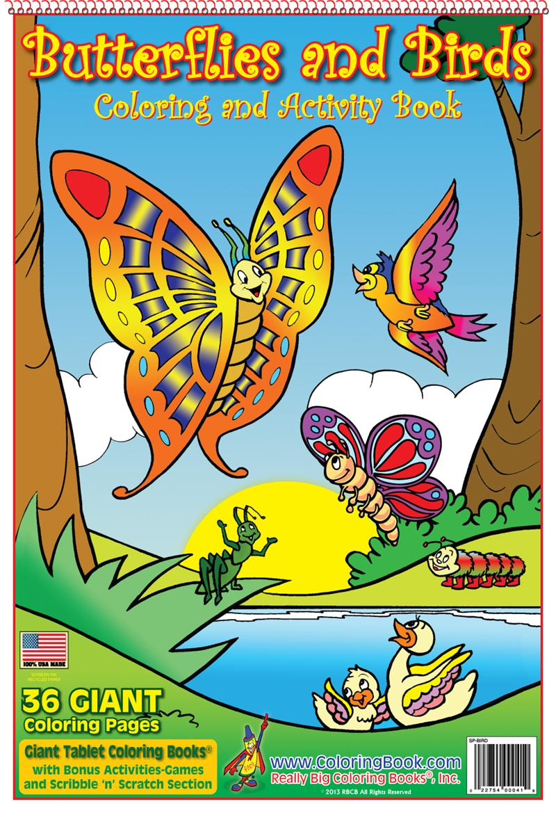 Butterflies and Birds - Wholesale Coloring Books