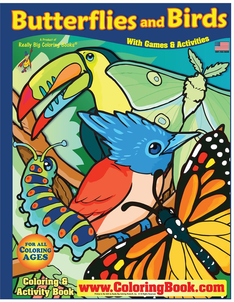 Butterflies and Birds Really Big Coloring Book (17\
