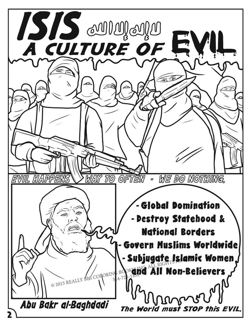isis a culture of evil a true to life graphic comic book pg 2 - Wholesale Coloring Books 2
