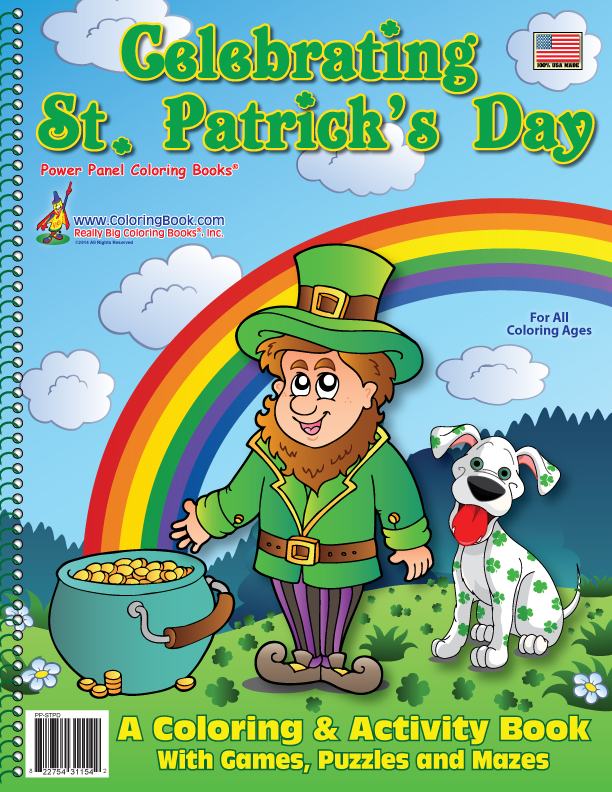 Celebrating St Patricks Day Coloring Book