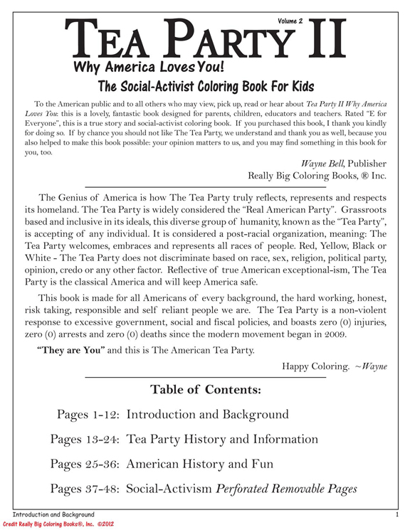 the tea party ii why america loves you coloring book - Wholesale Coloring Books 2