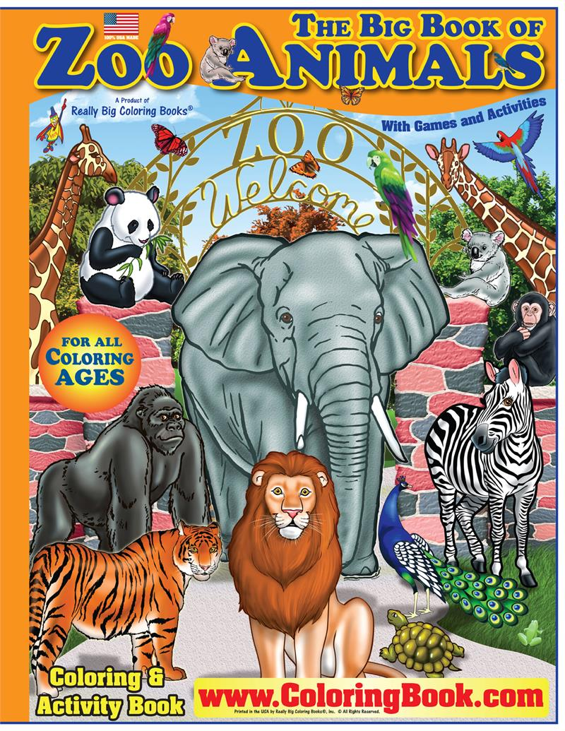 Big Book Of Zoo Animals Coloring