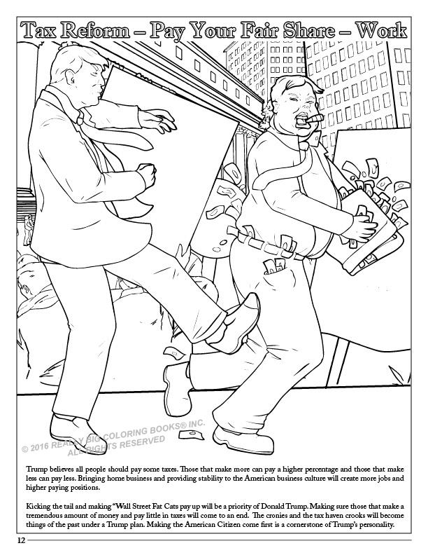 Donald Trump Coloring Book Comic With Song Tax Reform
