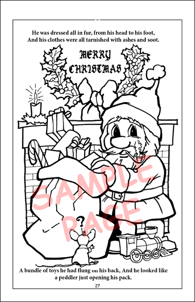 Wholesale Coloring Books | Twas the Night Before Christmas
