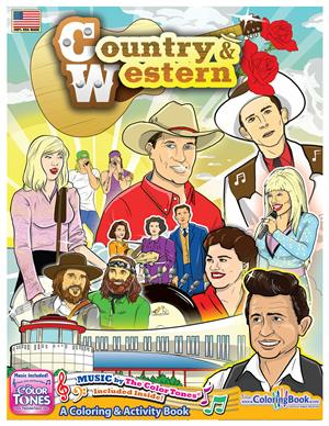 Country and Western Coloring and Activity Book with Song