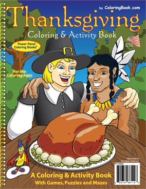 "Thanksgiving Coloring Book (8.5""x11"")"