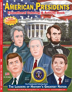 American Presidents - Coloring Book