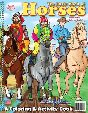 Little Book of Horses Coloring Book