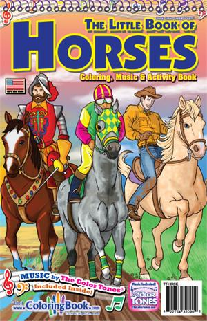 "Horses Travel Tablet Coloring Book with ""Horses Ride"" Song"