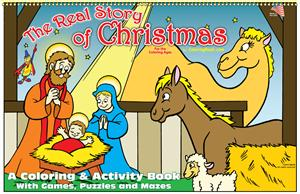 the real story of christmas coloring book