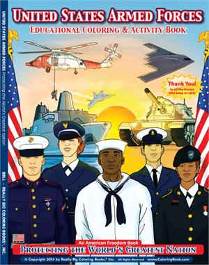 U.S. Armed Forces Coloring & Activity Book