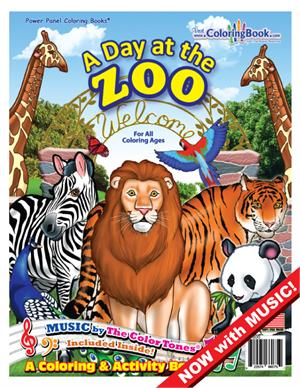 Wholesale Coloring Books | A Day at the Zoo with Song