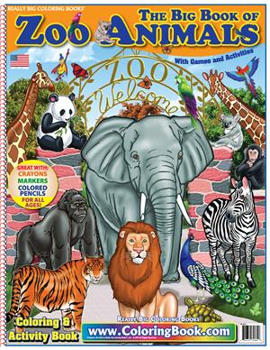 Zoo Animals Really Big Coloring Book