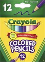 12-count Half Size Non-Toxic Pre-Sharpened Colored Pencils Set