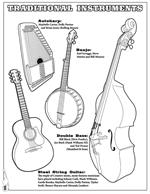 Country and Western Coloring Book - Instruments