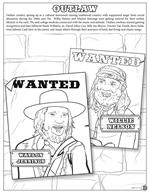 Country and Western Coloring Book - Outlaw