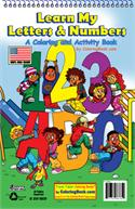 Learn My Letters & Numbers Coloring Books