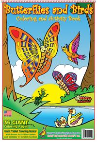 Butterflies and Birds Giant Tablet Coloring Book