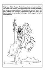 Horses Travel Tablet Coloring Book - American Paint Horse