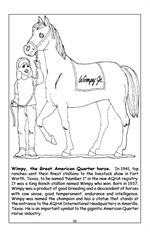 Horses Travel Tablet Coloring Book - Wimpy