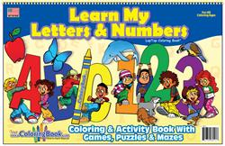ABC-123 Learn My Letters and Numbers Coloring Book