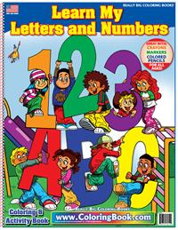 ABC-123 Learn My Letters and Numbers Really Big Coloring Book
