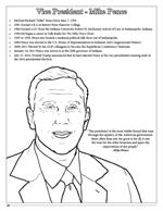 Vice President Mike Pence coloring page