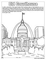 Saint Louis Coloring Book - Old Courthouse
