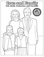 Cruz and Family coloring page