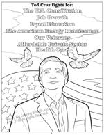 Senator Cruz fights for coloring page