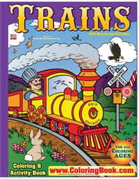 Trains Really Big Coloring Book back