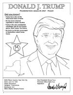 Donald J Trump Coloring page