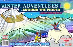Winter Adventures Around the World LapTop Coloring Book