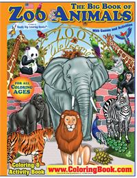 Big Book of Zoo Animals Coloring Book