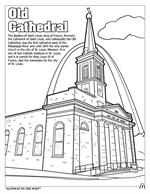 Saint Louis Coloring Book - Old Cathedral